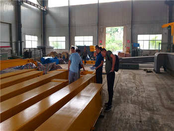 Our Philippines' Customers Visited Our Factory and Have a Test for The 5 Ton Overhead Crane