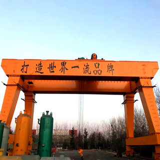 Tavol Brand Heavy Duty Double Girder Gantry Cranes with Open Winch SWL Upto 200 Tons Suitable in Busy And Heavy Working Conditions